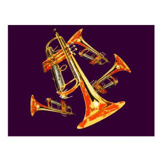 Multiple Trumpets Postcard