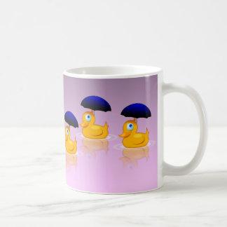 Multiple Umbrella Ducks Coffee Mugs