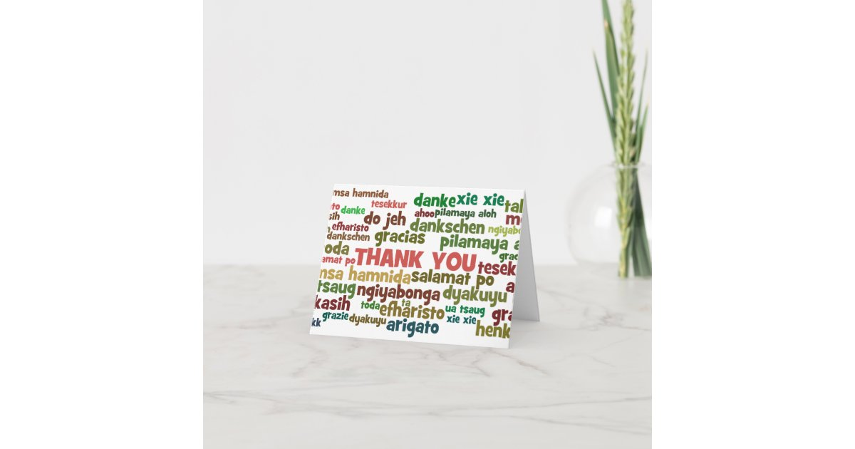Multiple Ways To Say Thank You In Many Languages Zazzle Com
