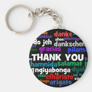 Multiple Ways to Say Thank You in Many Languages Keychain