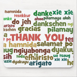 Multiple Ways to Say Thank You in Many Languages Mouse Pad