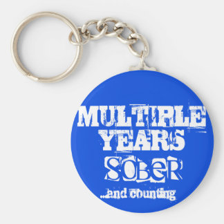 Multiple Years Sobriety Keychain