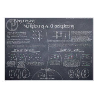 """Multiplexing vs. Charlieplexing"" Poster"