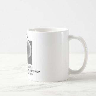 Multiplicación de la división de ciencia de la bio tazas de café