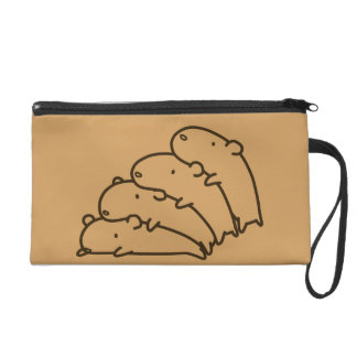 < Multiplication (brown) > Multiply (brown) Wristlet Purse