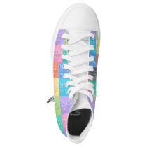 Multiplication Chart High-Top Sneakers
