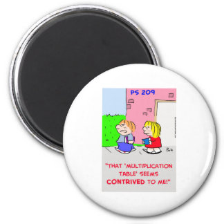 MULTIPLICATION TABLE CONTRIVED 2 INCH ROUND MAGNET