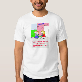 MULTIPLICATION TABLE CONTRIVED T SHIRT