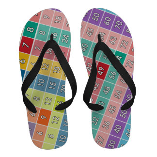 Multiplication Table for Teachers and Math Geeks Flip Flops