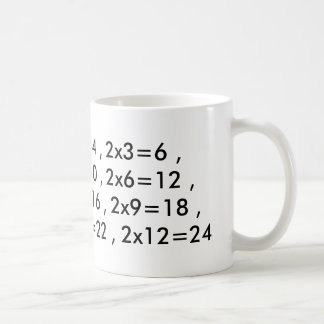 multiplication table Mug