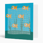 Multiplication Table with Fish Background 3 Ring Binder