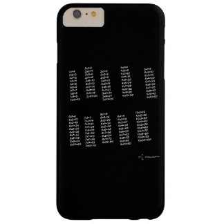 Multiplication tables barely there iPhone 6 plus case