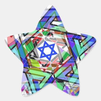 Multiplicidad de la estrella de David Pegatina En Forma De Estrella