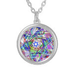 Multiplicity of the Star of David Round Pendant Necklace