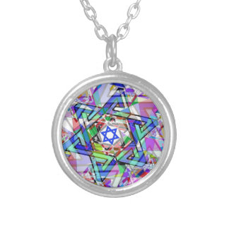 Multiplicity of the Star of David Silver Plated Necklace