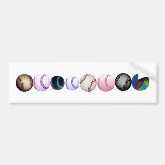 Múltiplo coloreado y estilos de béisboles pegatina para auto