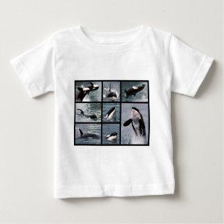 Múltiplo de las fotos de orcas playera para bebé