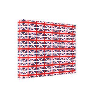 Múltiplo de Union Jack - Reino Unido Impresiones En Lienzo Estiradas