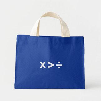 Multiply Greater Than Divide (White) Bag