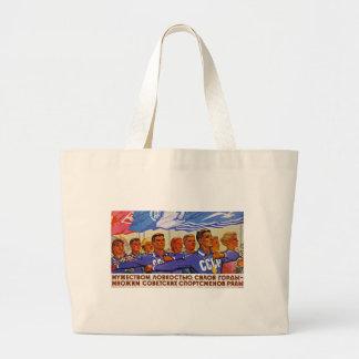 Multiply the Ranks of Soviet Sportsmen Large Tote Bag