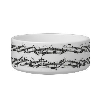 Multipurpose Bach Cello Suite Cat Water Bowls