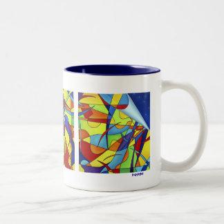Multipurpose Drinking Vessel Two-Tone Coffee Mug
