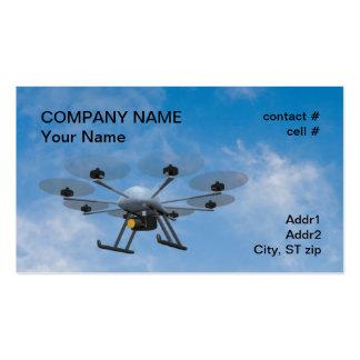 multirotor surveillance drone business card template