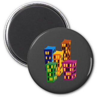 Multistoried buildings more tower buildings fridge magnets