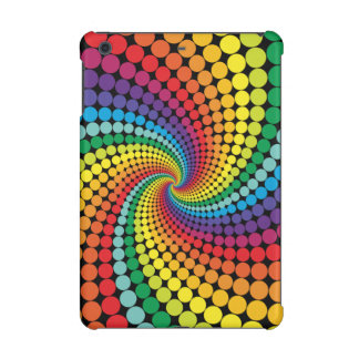 Multistyles Colorful Dots Swirl Abstract  Pattern iPad Mini Covers