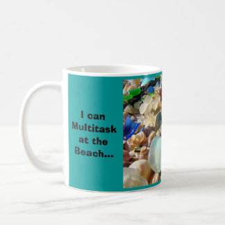 Multitask at the Beach Coffee Mugs Relax Sun Smile