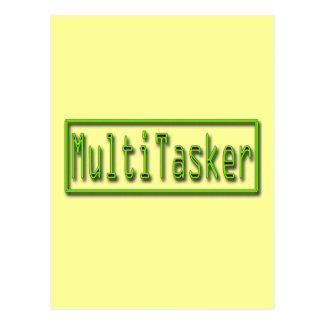 MultiTasker green Postcard