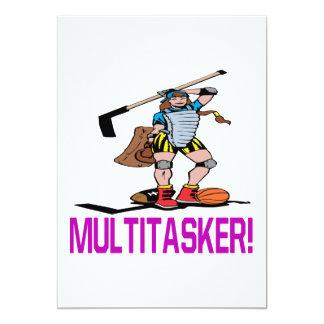 """Multitasker Invitación 5"""" X 7"""""""
