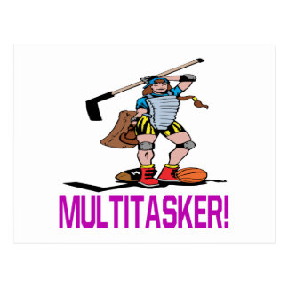 Multitasker Postcard