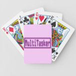 MultiTasker purple neon Bicycle Poker Cards