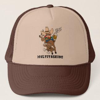 Multitasking Bull Rider Trucker Hat