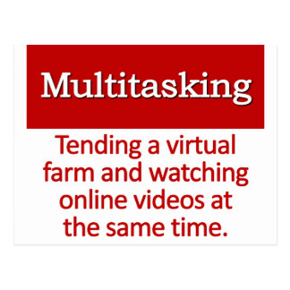 Multitasking Definition Postcard