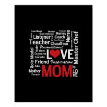 Multitasking Mom - Mother's Day or Mom's Birthday Poster