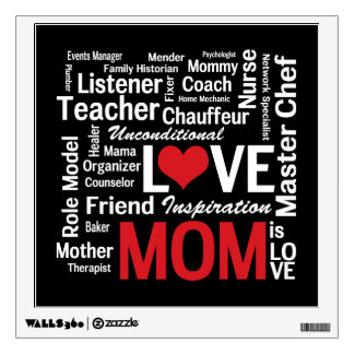 Multitasking Mom - Mother's Day or Mom's Birthday Wall Stickers