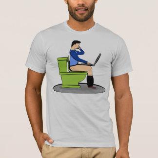 Multitasking On The Toilet Bowl T-Shirt