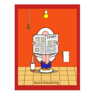 Multitasking Postcard