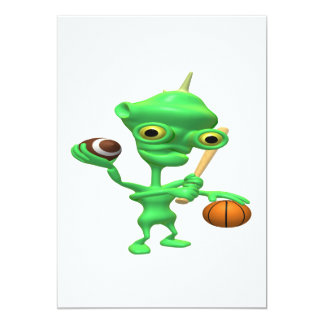 Multitasking Sports Alien Card