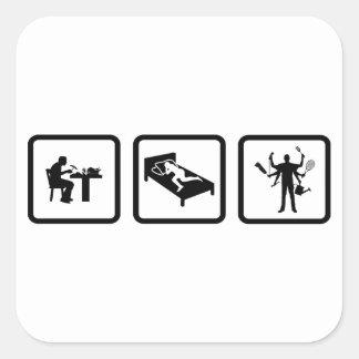 Multitasking Square Sticker