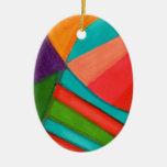Multitud abstracta ornamento de navidad