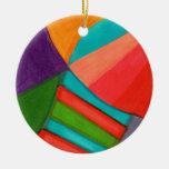 Multitud abstracta ornaments para arbol de navidad