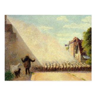 Multitud de Camilo Pissarro- de ovejas Tarjeta Postal