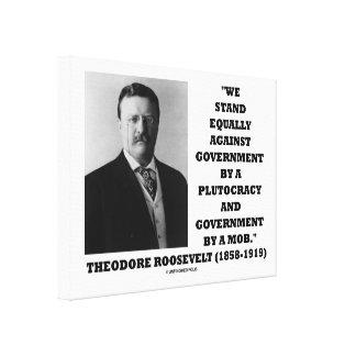 Multitud de la plutocracia del gobierno del impresiones de lienzo