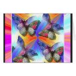 Multitud de la tarjeta de nota de las mariposas