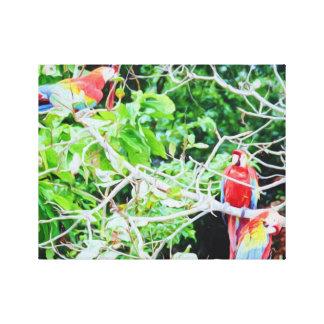 Multitud de Macaws Impresiones En Lona