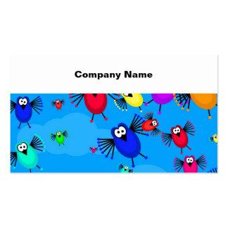 Multitud de pájaros tarjeta de negocio