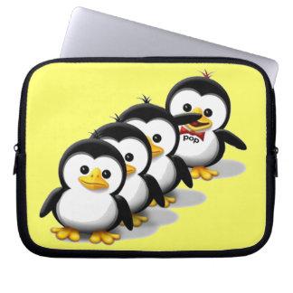 Multitud de pingüinos mangas portátiles